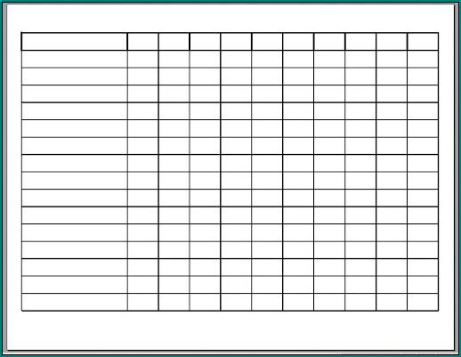 Work Schedule Template Sample